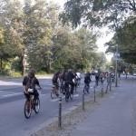 Die Fahrraddemonstration auf dem Weg zur Friedrichstraße